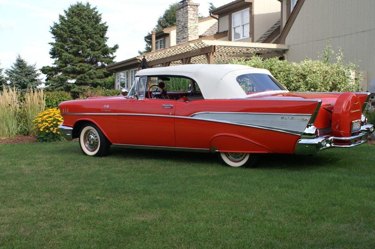 1957 Chevy Bel Air Convertible Fuel Injected Ken Nagels Classic 4 Door